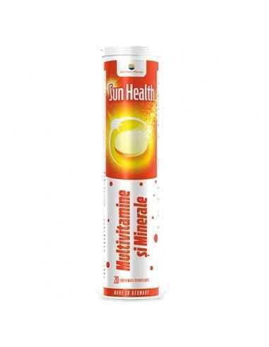 SUN HEALTH MULTIVIT&MINERAL 20CPR EFF SUNWAVE PHARMA Aport echilibrat de vitamine și minerale ce sprijină atât performanţa ment