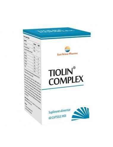 TIOLIN COMPLEX 60CPS SUNWAVE PHARMA Menținerea funcționării normale a sistemului nervos periferic.