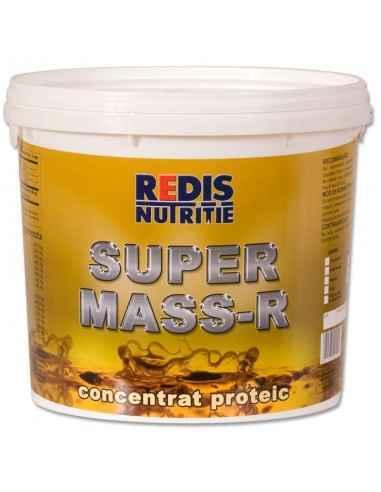 SUPER MASS-R fara indulcitori si arome galeata 2.2 kg Redis Super Mass-R este un supliment cu arome de vanilie, ciocolata, tutt