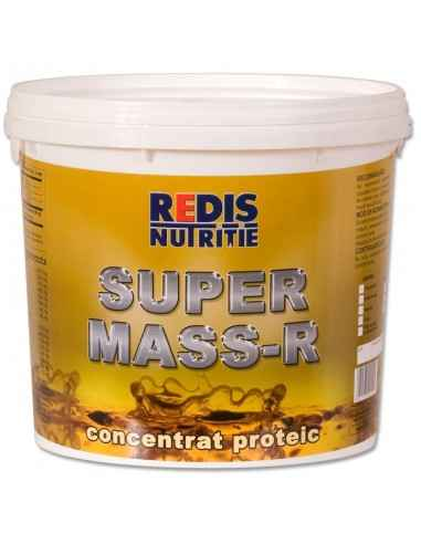SUPER MASS-R vanilie galeata 4.5 kg Redis Super Mass-R este un supliment cu arome de vanilie, ciocolata, tutti frutti care, dat