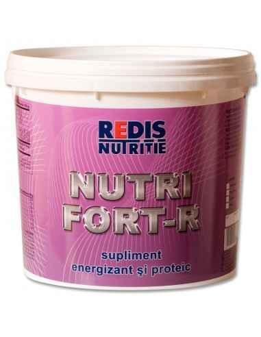 NUTRIFORT-R ciocolata 1Kg saculet Redis Nutrifort-R este un concentrat de carbohidrati, proteine, vitamine si minerale (cu arom