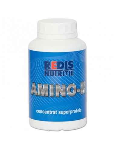 AMINO-R 500 tablete Redis Amino - R este un produs de calitate superioara, natural, cu un procent si raport optim de aminoacizi