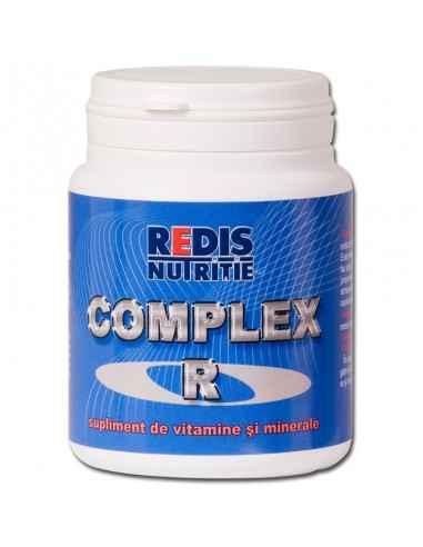 COMPLEX-R 50 capsule Redis Complex R este un supliment alimentar vitamino-mineral indicat in cazul solicitarilor fizice mari, i