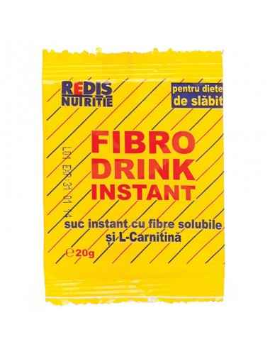 FIBRO DRINK INSTANT 20 g/plic Redis Fibro Drink Instant este un suc instant cu fibre solubile si L-Carnitina.