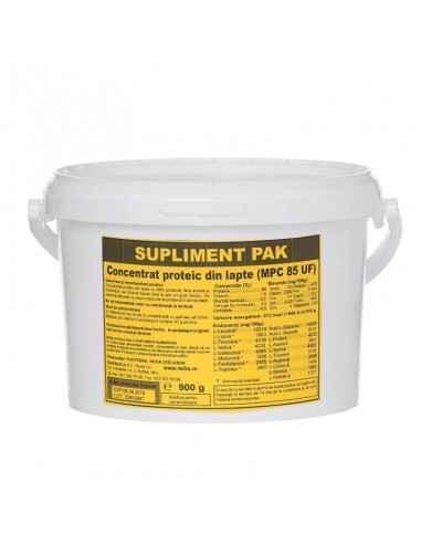 CONCENTRAT DIN LAPTE-MPC 85 UFC 900 g sac Redis Concentrat proteic din lapte (MPC 85 UF) cu 85% proteină, fara arome si indulci