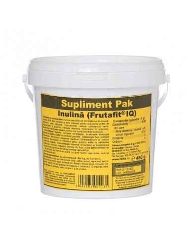 INULINA 450 g cutie Redis Inulina este obținută din rădăcina de cicoare si conține 95% fibre solubile.