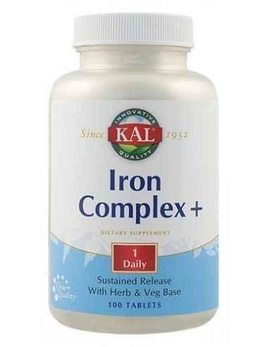 Iron Complex + 100 tablete Kal Secom Formula complexa ce ajuta la cresterea absorbtiei, metabolismului si transportului normal a