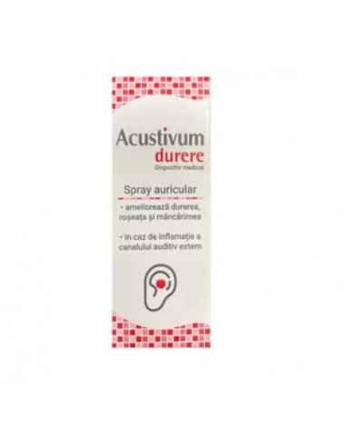 ACUSTIVUM SPRAY AURICULAR DURERE 20ML Zdrovit Spray-ul auricular este utilizat pentru tratamentul adjuvant al durerilor canalul