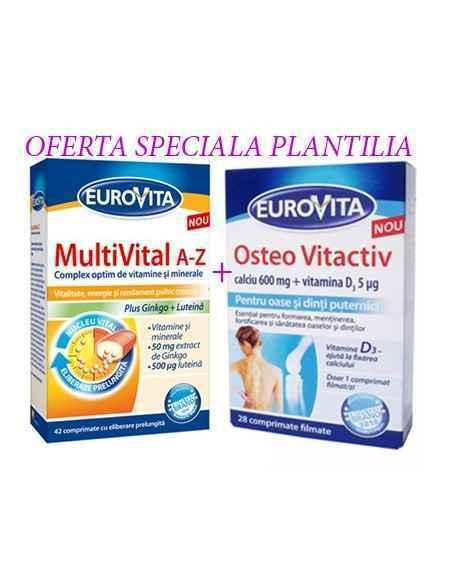 EUROVITA MULTIVITAL A-Z 42CPR + Osteo vitactiv 28CPR EUROVITA