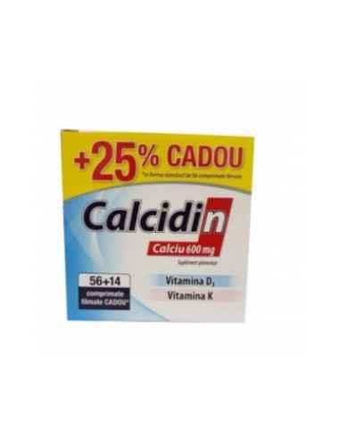 CALCIDIN 56CPR + 14 cpr Zdrovit Gama de produse CALCIDIN conține toate cele 3 elemente necesare pentru menținerea sănătății oas