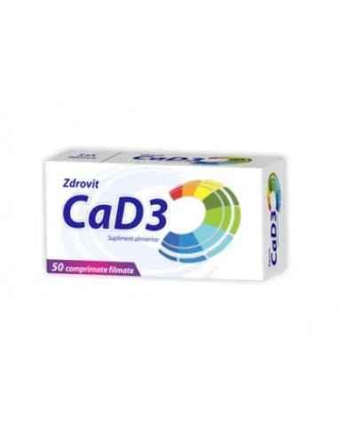CALCIU+VIT D3 50CPR Zdrovit Calciul este necesar pentru mentinerea sanatatii sistemului osos si dintilor.