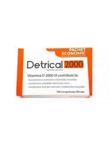 DETRICAL D3 2000UI 120CPR Zdrovit Vitamina D contribuie la functionarea normala a sistemului imunitar, la mentinerea sanatatii