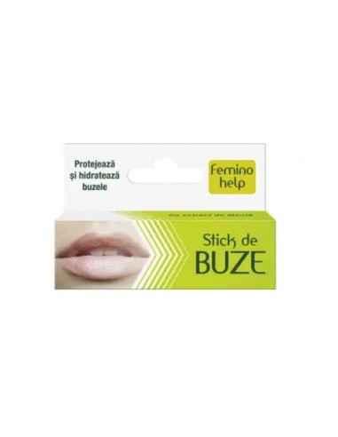 FEMINOHELP STICK BUZE 4.8GR Zdrovit Stick-ul pentru buze Feminohelp, bazat pe ingrediente naturale, a fost conceput pentru a pr