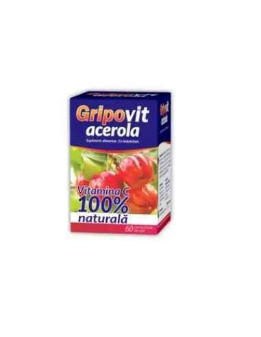 GRIPOVIT ACEROLA DE SUPT 60CPR Zdrovit Gripovit Acerola are un continut foarte mare de Vitamina C, de 8 ori mai mult decat port