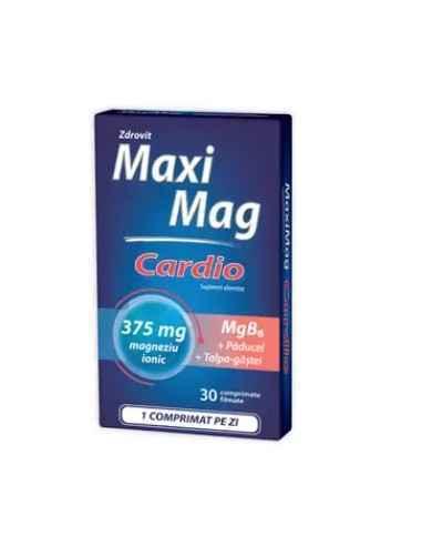 MAXIMAG 375MG 30CPS Zdrovit MaxiMag Cardio este un supliment alimentar recomandat pentru protejarea sistemului cardiovascular.