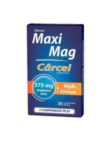 MAXIMAG CARCEL 30CPR Zdrovit Zdrovit Maximag Carcel contine extract din ghimpe care are efect de revitalizare a picioarelor obo