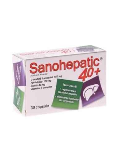 SANOHEPATIC 40+ 30CPS Zdrovit Favorizeaza regenerarea tesutului hepatic.
