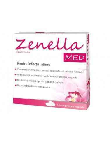 ZENELLA MED 14CPR Zdrovit Efectele Zenella Med sunt imbunatatite de acidul hialuronic si vitamina E, care hidrateaza mucoasa va