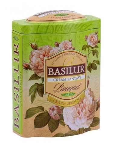 CREAM FANTASY CEYLON GREEN TEA 100GR BASILUR TEA O experienta deosebita, un ceai verde special, un amestec cu aroma dulce si di
