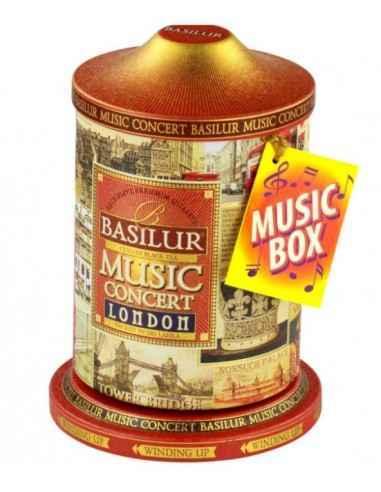 MUSIC CONCERT LONDON 100GR BASILUR TEA Ciocolata neagra cu un strop de Earl Grey. Aceasta cutie-cadou defineste Londra. Carusel