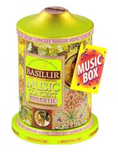 MUSIC CONCERT ROMANTIC 100GR BASILUR TEA Cutie muzicala pentru cei romantici! Un cadou deosebit intr-un ambalaj (in)cantator.