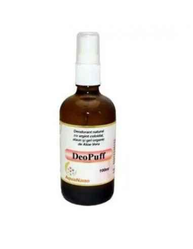 DEODORANT SPRAY DEOPUFF 100ml AGHORAS Deodorant Spray DeoPuff nu impiedica in totalitate transpiratia si este recomandat mai a