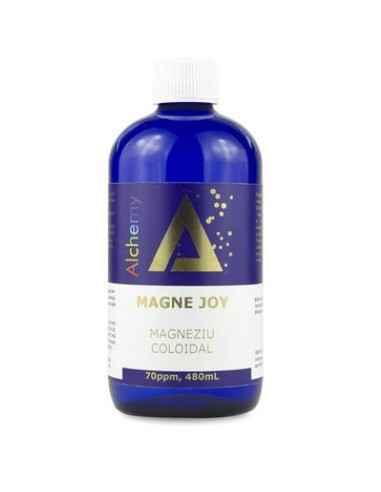 """MAGNEZIU COLOIDAL MAGNE JOY 70PPM """"ALCHEMY"""" 480ml AGHORAS Magne Joy este o suspensie coloidală de magneziu pur, produsă cu apă"""
