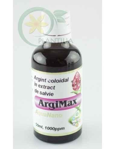 Argint coloidal concentrat ArgiMax 50 ml 1000ppm Aghoras ArgiMax este un argint coloidal concentrat, stabilizat cu pectină.