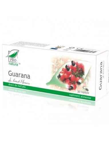 Guarana 30 capsule Pro Natura